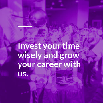 Invest your time wisely and grow your career with us.